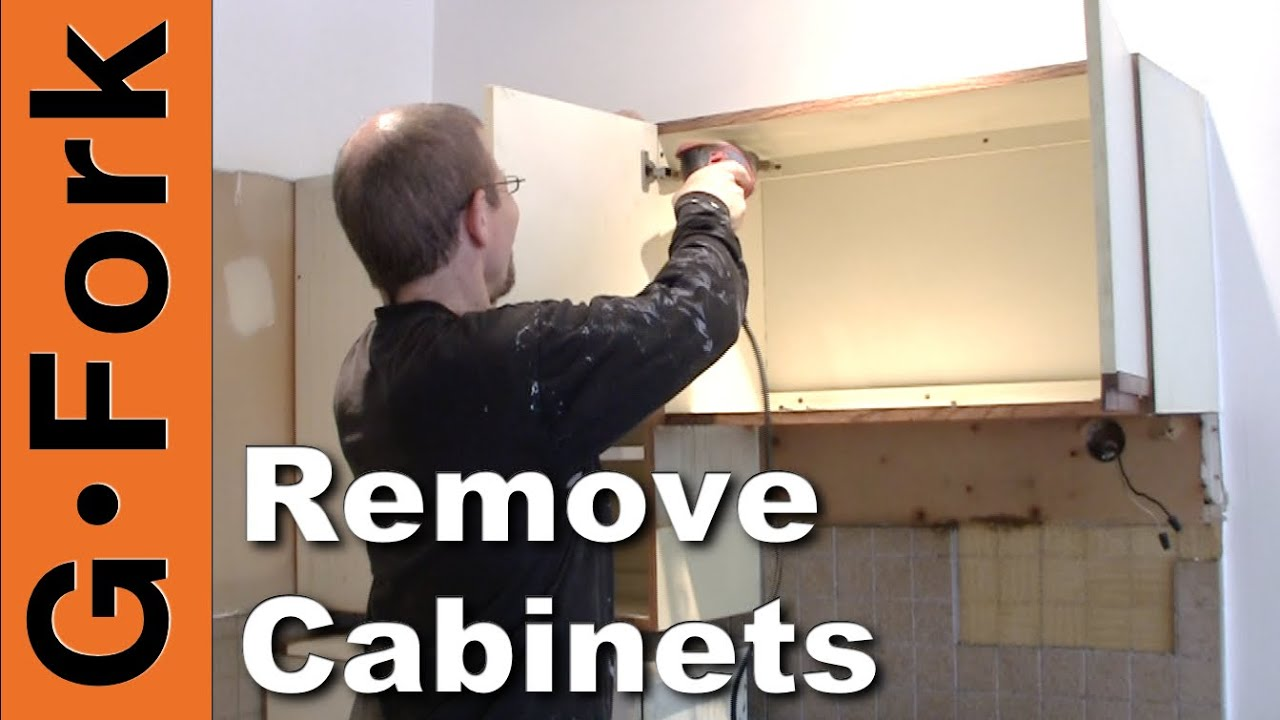 How To Remove Kitchen Cabinets   Updated   GardenFork   YouTube