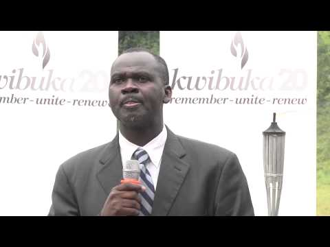 Speech by Minister of Natural Resources Hon Stanislas Kamanzi at the Kwibuka Flame Tour in Rutsiro