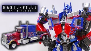 Transforming MPM-4 Masterpiece Movie Optimus Prime (Robot to Vehicle)