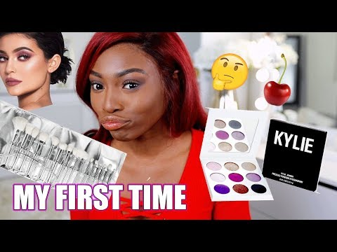MY FIRST TIME TRYING KYLIE COSMETICS, BREAKING MY KYLIE VIRGINITY!