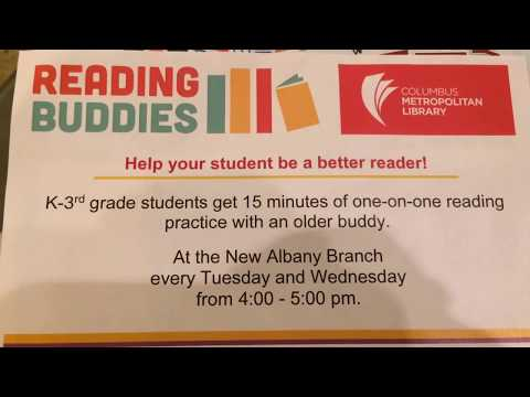 Columbus Metropolitan Library - Reading Buddies - K-3 Schedule