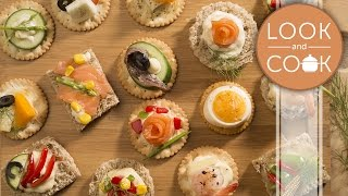 Canapés non veg Recipe - Look and Cook step by step recipes | How to cook Canapés non veg Recipe