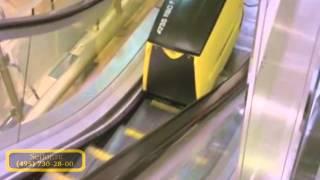 видео Поломоечные машины для чистки эскалаторов