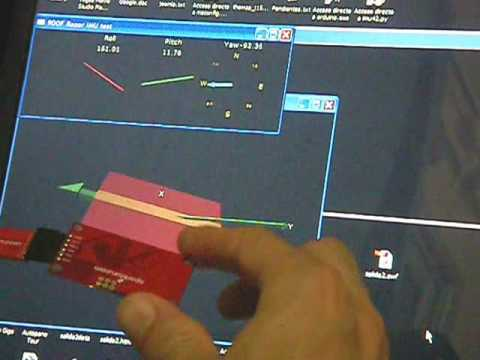 AHRS / head-tracking using SparkFun 9DOF Razor IMU or 9DOF
