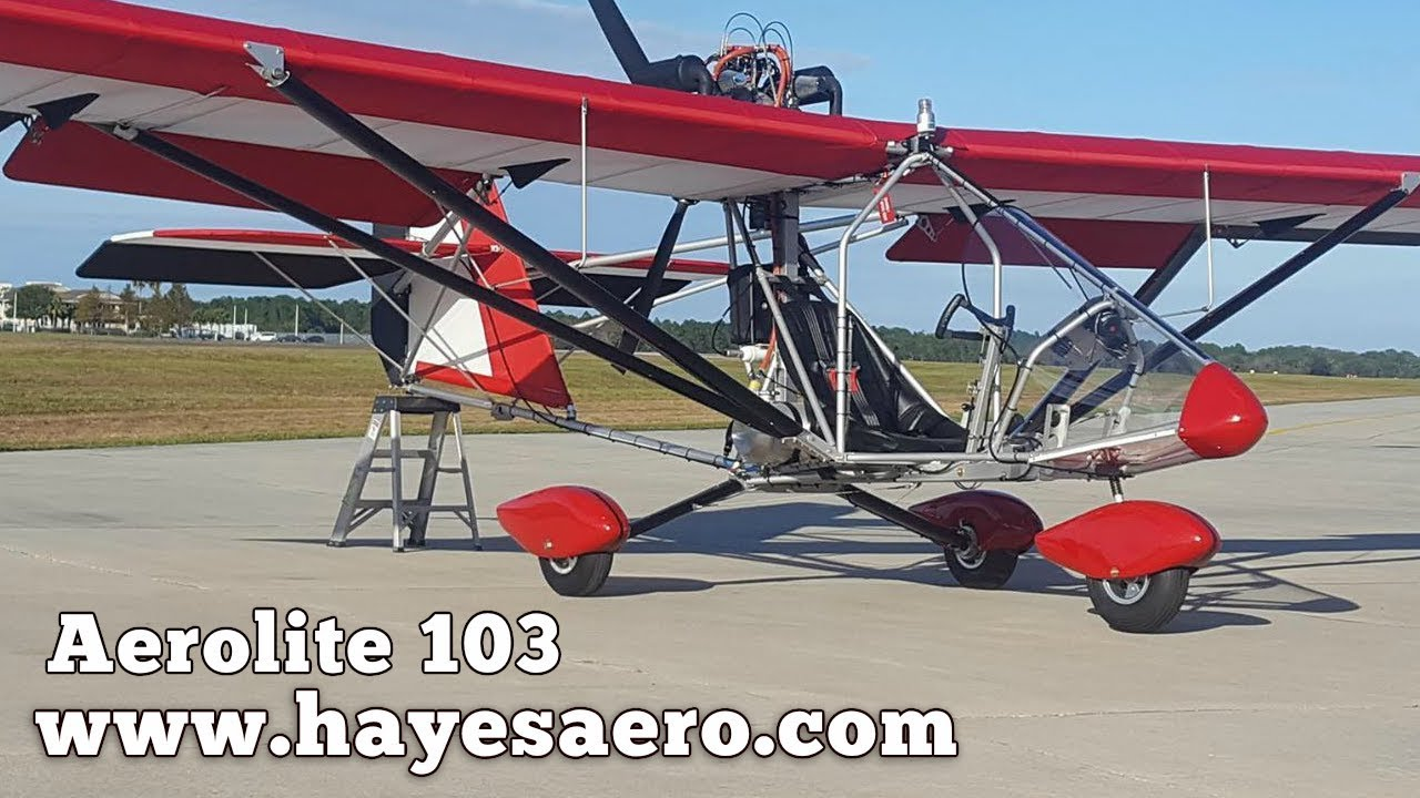 Aerolite 103, Hayes Aero, Aerolite 103 ultralight and experimental aircraft  builder