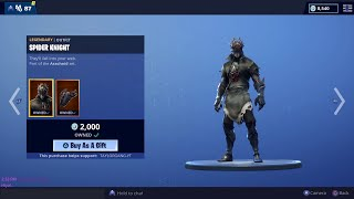Fortnite Item Shop Spider Knight Returns!!! Gifting Subs! Item Shop Update 2/22/19