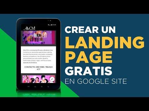 Crear un landing page gratis en el nuevo Google site 2017