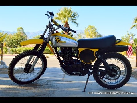 1978 yamaha tt500 vinatge not yamaha xt500. Black Bedroom Furniture Sets. Home Design Ideas