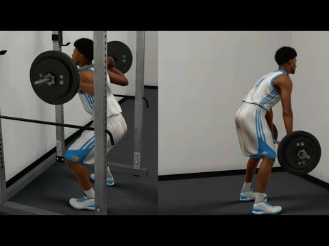 NBA 2K17 MyCAREER - Weight Lifts & Squats!! Off Days Practice Drills + Practice Cutscene!