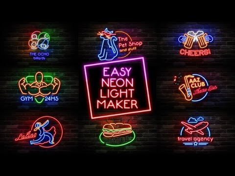 Easy Neon Lights Maker | After Effects Template