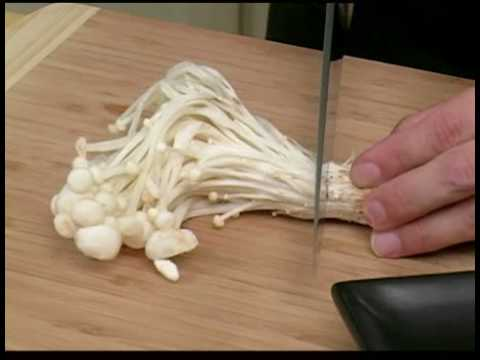 Cooking Tips : How to Prepare Enokitake Mushrooms