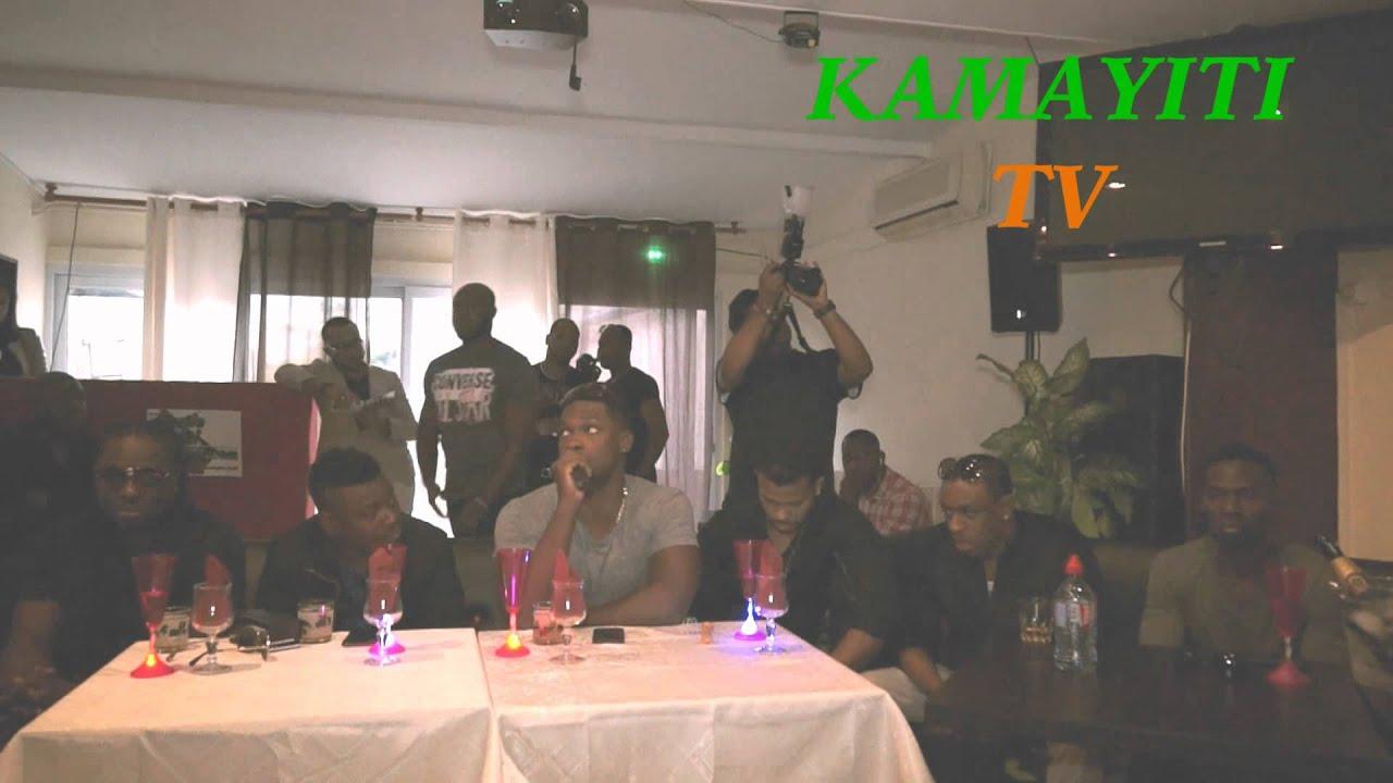 Le groupe Harmonik devant la presse, avant son concert- kamayiti.com