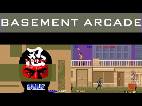 Playing Shinobi  Arcade1Up - The BASEMENT Arcade 🕹 from Seaneleous