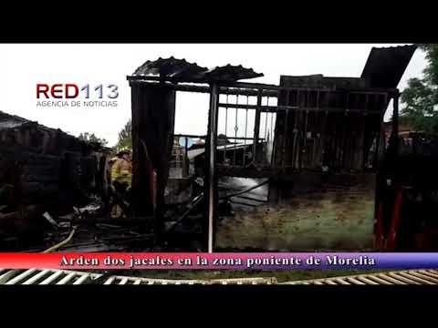VIDEO Arden dos jacales en la zona poniente de Morelia