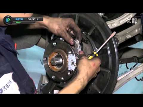 Replacing Rear bearing and knuckle on Maserati