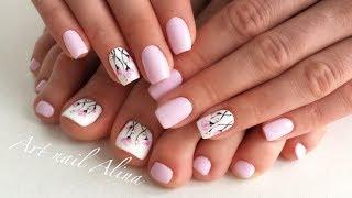 видео Фото цветов на ногтях
