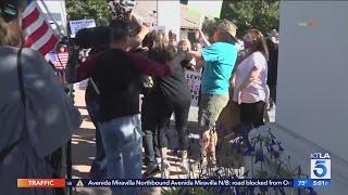 Scuffles break out outside Ventura County church defying orders