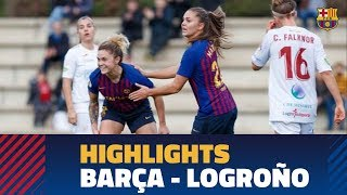 Download Video [HIGHLIGHTS] FUTBOL FEM (Liga): FC Barcelona – Logroño MP3 3GP MP4