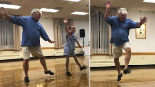 10-Year-Old Cartwheels With 72-Year-Old Grandpa During Tap Dance Routine