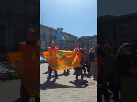 """Pensininkų mitingas prie Seimo. Kalba LPS """"Solidarumas"""" pirmininkė K. Krupavičienė.2017 05 16"""