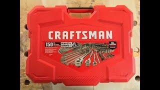 Craftsman 150 Piece Gunmetal Crome Mechanics Tool Set Product Overview