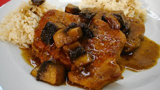 Tender Pork Chops with Mushrooms & Mustard Sauce - Recipe