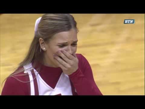 Collin Hartman Proposes to Girlfriend on Senior Day | Indiana Hoosiers | Big Ten Men's Basketball