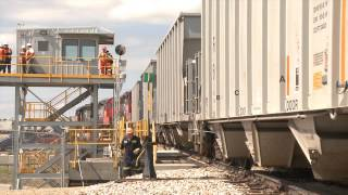 Gravel Supply by Rail - Alberta Train