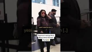Paparazzi asking Nicki Minaj about Donald Trump tiktok cardibxnicki