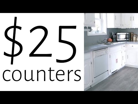 How I Painted My Countertops for $25  I  DIY KITCHEN MAKEOVER  I  RUSTOLEUM COUNTERTOP PAINT