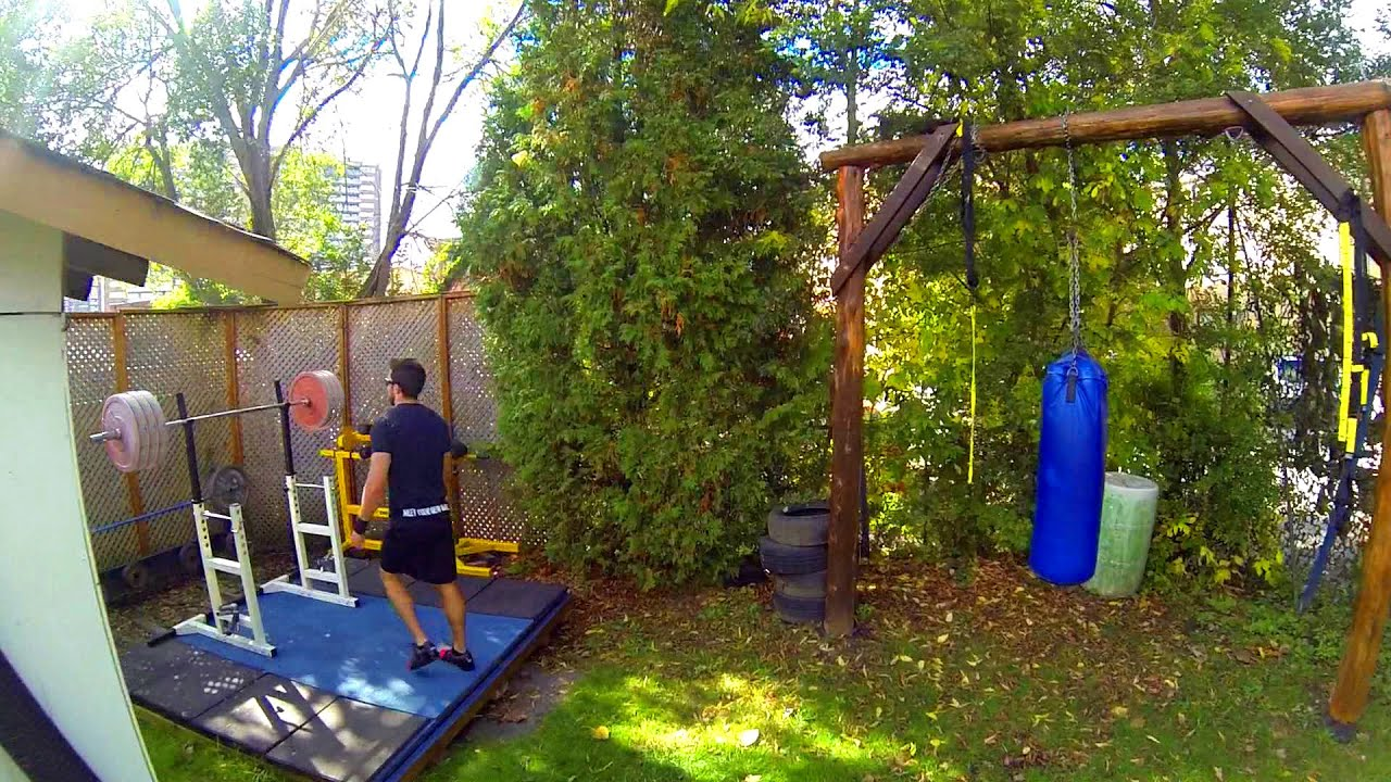 outdoor weightlifting platform and gym set-up in canada - youtube