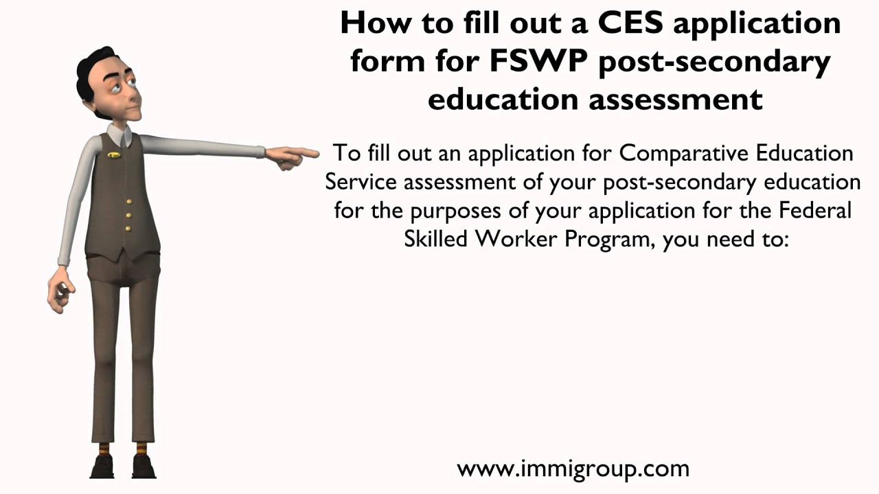 how to fill out a ces application form for fswp post secondary how to fill out a ces application form for fswp post secondary education assessment
