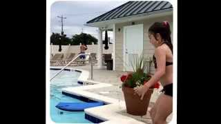 Me in reverse jumping in a pool