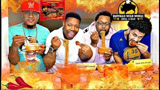 BLAZING WINGS  2X SPICY NOODLES CHALLENGE WITH EM AND VON