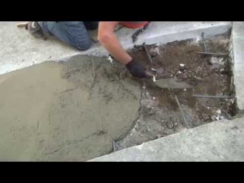 concrete driveway crack repair youtube
