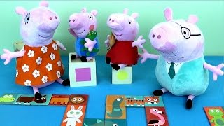 Свинка Пеппа и её семья играют в Домино. Развивающее видео для детей - Peppa Pig