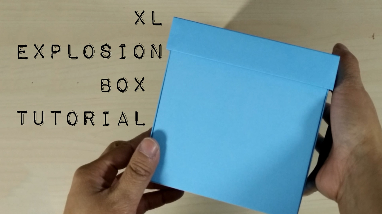 diy template how to make an extra large explosion box tutorial