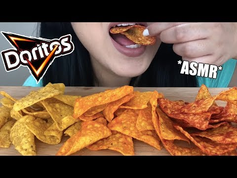 ** ASMR DORITOS CHIPS ** Crunchy Eating Sounds | Cool Ranch Nacho Cheese & Spicy Blaze | ASMR Phan