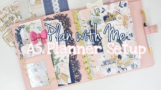 Plan with Me // A5 Planner Setup // The Planner Society