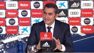 Rueda de prensa de Ernesto Valverde tras el Real Madrid vs FC Barcelona (0-3)