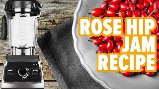 Rose hip jam using a juicer and blender