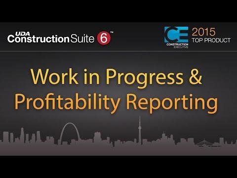 Work in Progress & Profitability Reporting     UDA Technologies