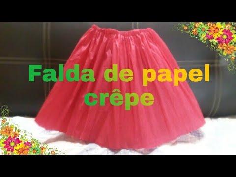 Como hacer una falda de papel cr pe youtube - Videos de como hacer crepes ...