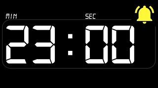 ⏰ TIMER 23 Minutes ((BEEP)) 🔔 - Countdown with Alarm