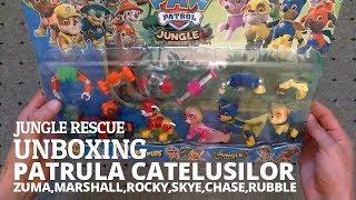 Patrula Catelusilor - Desfac Set Jucarii  6 Catei - Unboxing Paw Patrol Jungle Rescue
