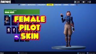 NEW FEMALE PILOT 'AIRHEART' SKIN IN-GAME FORTNITE SEASON 6