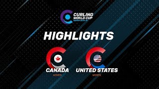 HIGHLIGHTS: Canada v United States – Women's – Curling World Cup leg two, Omaha, United States