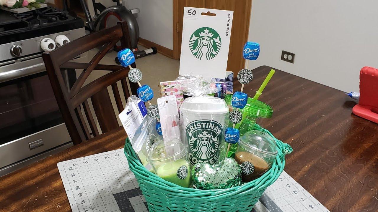 Diystarbucksgiftbasket Giftideas Diy Starbucks Gift Basket