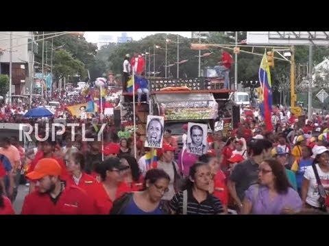 Venezuela: Maduro supporters march against Trump's Venezuelan sanctions in Caracas