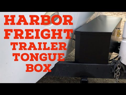 Harbor Freight Trailer Tongue Box Install